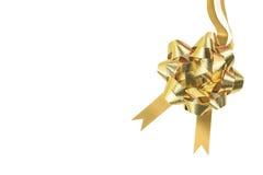 Gouden geïsoleerd lint en boog Royalty-vrije Stock Foto