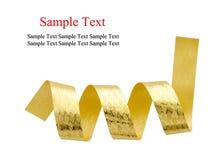 Gouden Geïsoleerda lint Royalty-vrije Stock Afbeeldingen