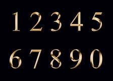 Gouden geïsoleerde cijfers, Royalty-vrije Stock Fotografie