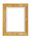 Gouden geïsoleerde omlijsting Royalty-vrije Stock Fotografie