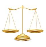 Gouden geïsoleerde schalen royalty-vrije illustratie
