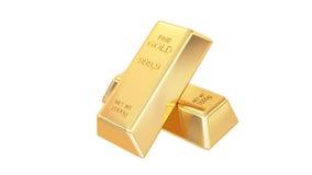 Gouden geïsoleerde0 staven Stock Afbeelding