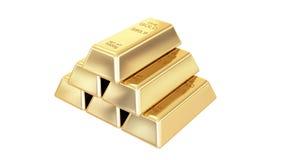 Gouden geïsoleerde0 staven Royalty-vrije Stock Afbeelding