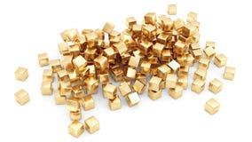 Gouden geïsoleerde0 staven Royalty-vrije Stock Afbeeldingen