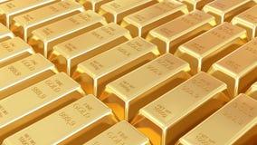 Gouden geïsoleerde0 staven Royalty-vrije Stock Foto
