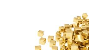 Gouden geïsoleerde0 staven Royalty-vrije Stock Foto's