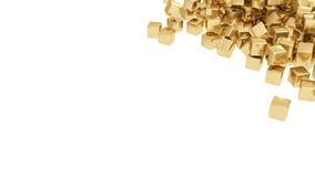 Gouden geïsoleerde0 staven Royalty-vrije Stock Fotografie