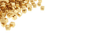Gouden geïsoleerde0 staven Stock Foto's
