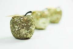 Gouden geïsoleerdea appelen Stock Afbeelding