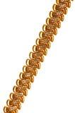 Gouden geïsoleerden ketting Stock Fotografie