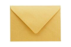 Gouden geïsoleerdes envelop. Royalty-vrije Stock Foto's