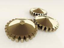 Gouden gears Royalty-vrije Stock Afbeelding