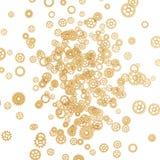 Gouden gears Stock Afbeeldingen