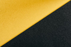 Gouden Geel en Houtskool Gray Abstract Geometric Background Royalty-vrije Stock Foto's