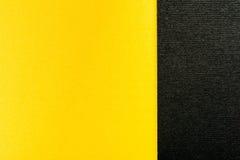 Gouden Geel en Houtskool Gray Abstract Geometric Background Stock Fotografie