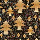 Gouden gek kleurrijk de Chevron naadloos patroon van de pijnboomboom Royalty-vrije Stock Foto