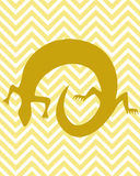 Gouden Gekko Royalty-vrije Stock Afbeelding