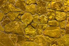 Gouden gele muur Stock Fotografie