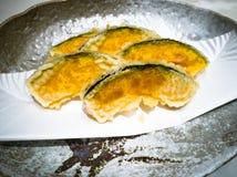 gouden gele tempura Royalty-vrije Stock Fotografie