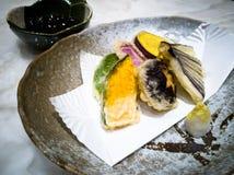 gouden gele tempura Stock Afbeeldingen