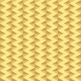 Gouden geometrisch naadloos patroon Stock Afbeelding