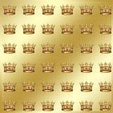 Gouden geometrisch textielpatroon Royalty-vrije Stock Afbeelding