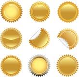 Gouden geplaatste starbursts Royalty-vrije Stock Foto