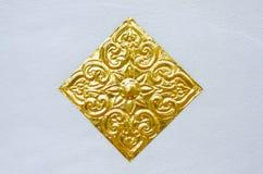 Gouden gesneden bloem Stock Afbeelding