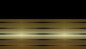 Gouden Gestreept Adreskaartje Stock Afbeeldingen