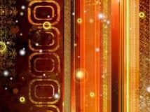 Gouden gestreepte abstractie Royalty-vrije Stock Foto