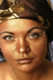Gouden gezicht stock afbeelding
