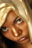 Gouden gezicht - 9097 royalty-vrije stock foto's