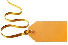 Gouden giftmarkering Royalty-vrije Stock Foto's
