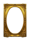 Gouden glanzend kader stock afbeelding