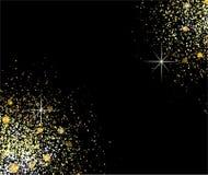 Gouden glanzende deeltjesvorm Royalty-vrije Stock Fotografie