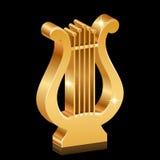 Gouden glanzende lier royalty-vrije illustratie