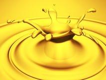 Gouden glanzende plons Abstracte luxeachtergrond vector illustratie