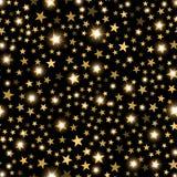 Gouden glanzende sterrensamenvatting Het feestelijke, concept van het luxe of netwerk grafische ontwerp stock fotografie