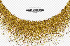 Gouden Glanzende Tinsel Square Particles Vector Background vector illustratie