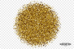 Gouden Glanzende Tinsel Square Particles Vector Background Royalty-vrije Stock Afbeeldingen