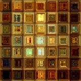 Gouden glas abstract mozaïek Stock Fotografie