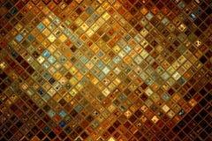 Gouden glas abstract mozaïek Royalty-vrije Stock Foto
