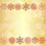 Gouden gloeiend naadloos Kerstmispatroon Stock Foto's