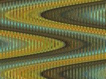 Gouden golven stock illustratie