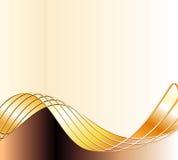 Gouden golven Royalty-vrije Stock Afbeelding