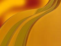 Gouden golvenachtergrond Stock Foto's