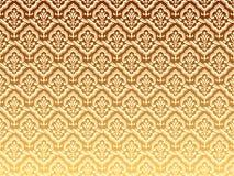 Gouden golvende patronen Stock Afbeelding