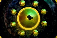 gouden gongtempel stock foto