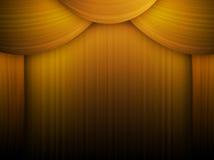Gouden gordijn royalty-vrije illustratie