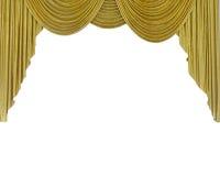 Gouden gordijn Stock Afbeeldingen